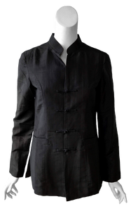Laurel Jacket in Black Silk