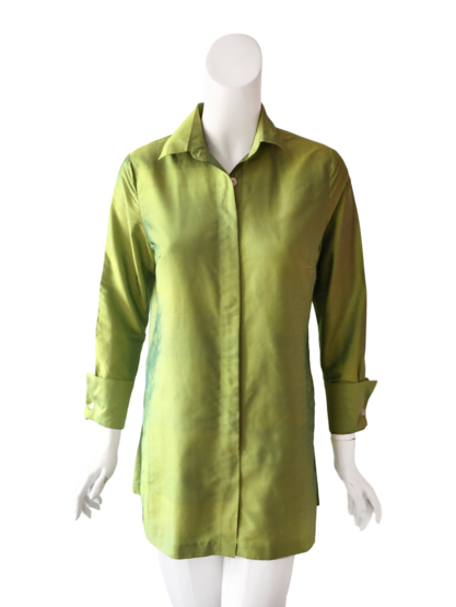 Charlotte Top in Silk - Lime