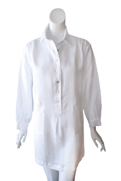 Jacqueline Top in White Linen