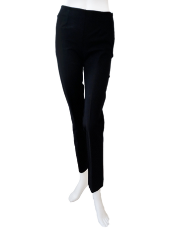 Long Cotton Stretch Pant in Black