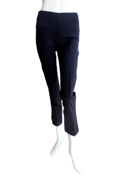 Slim Cut Cotton Stretch Pant in Black