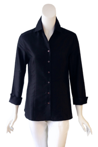 Audrey Top in Black Silk