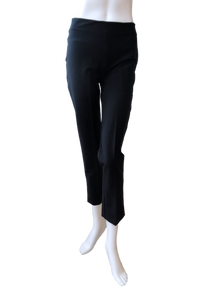 Slim Cut Silk Stretch Pant in Black