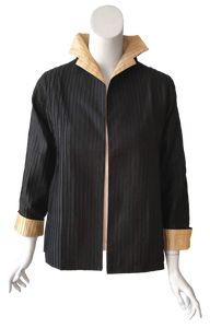 Marise Jacket in Black and Gold Silk