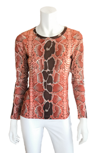 Sweater in Snake Print