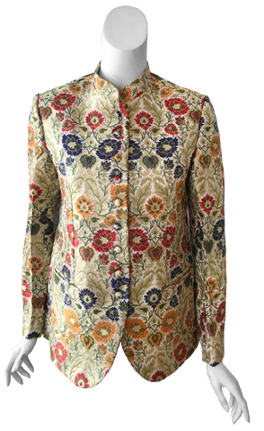 Diana Brocade Jacket in Gold