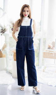 Raven Dark Denim Dungaree