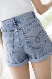 *Restocked* Kelsey Denim Shorts – Blue Denim