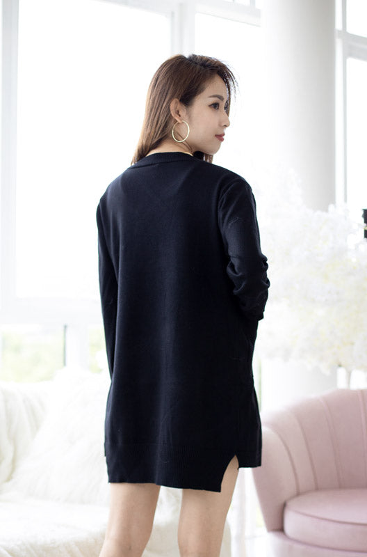 *Restocked* Zoe Basic Knit Cardigan – Black
