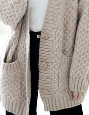 *Restocked* Emma Oversized Cable Knit Cardigan – Nude
