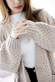 *Backorder* Emma Oversized Cable Knit Cardigan – Nude