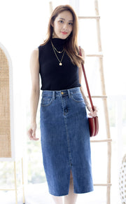 Avrey Denim Midi Skirt