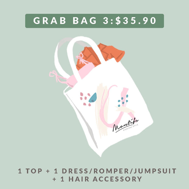 BUNDLE 3 – 1 Top + 1 Dress/Romper/Jumpsuit + 1 Hair Accessory