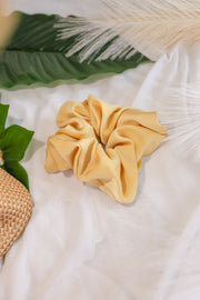 Satin Scrunchie – Mellow Yellow