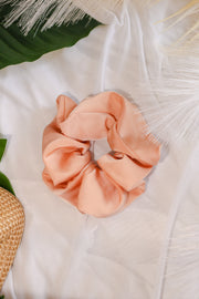 Satin Scrunchie – Tangerine