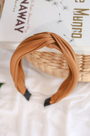 Knotted Headband – Brown