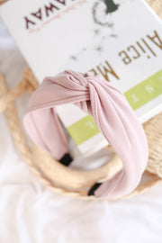 Knotted Headband – Pale Pink