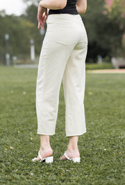 Gemma Wide Leg Pants – Sand