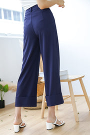 Mia Cuff Pants – Deep Ocean Blue