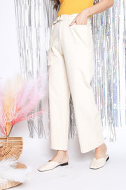 Loryn Buckle Pants – Off White