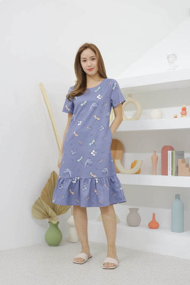 Sierra Shift Dress – Blue