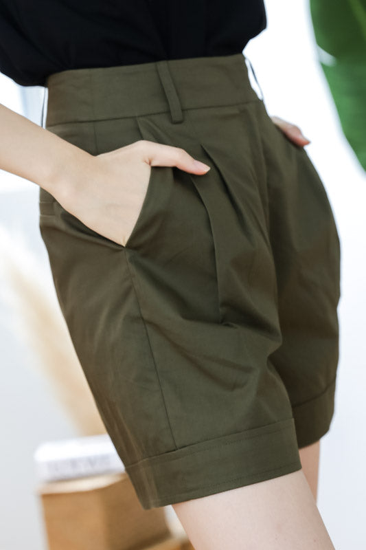 Sophie Safari Shorts – Olive