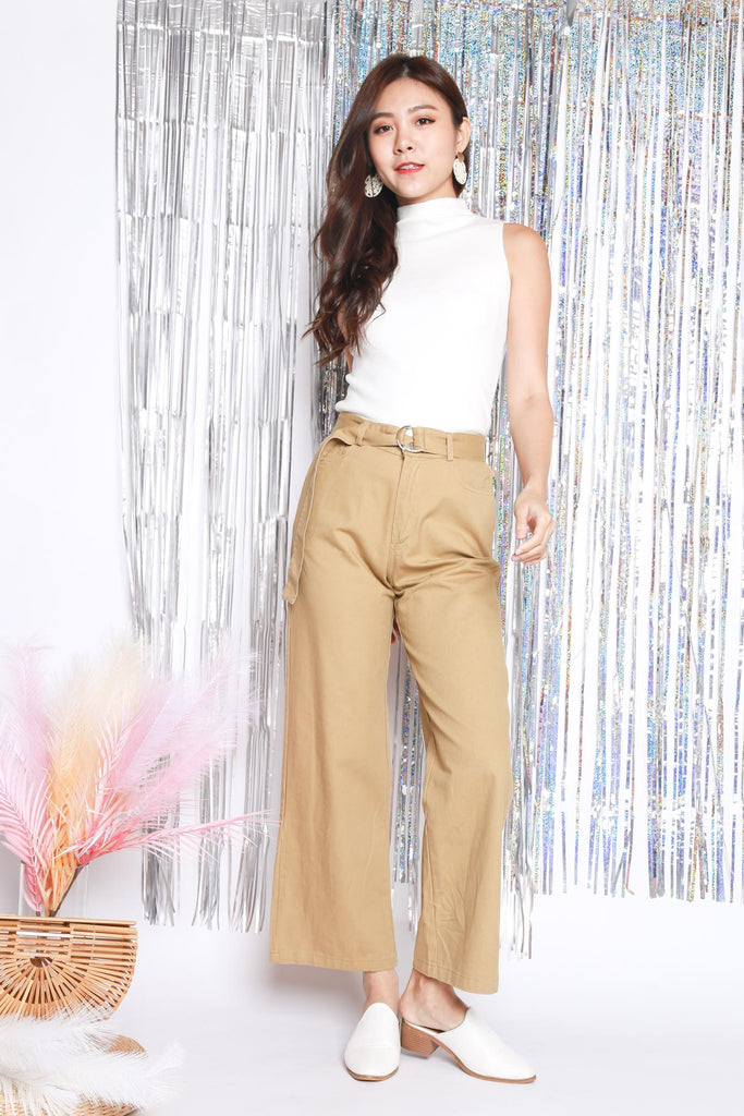 Loryn Buckle Pants – Sand