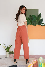 Anessa Colorblock Jumpsuit – Rose