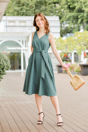 Keelin Sleeveless Dress – Teal