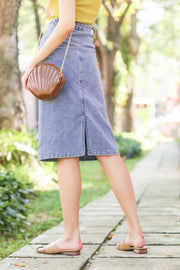Aura Slit Denim Skirt