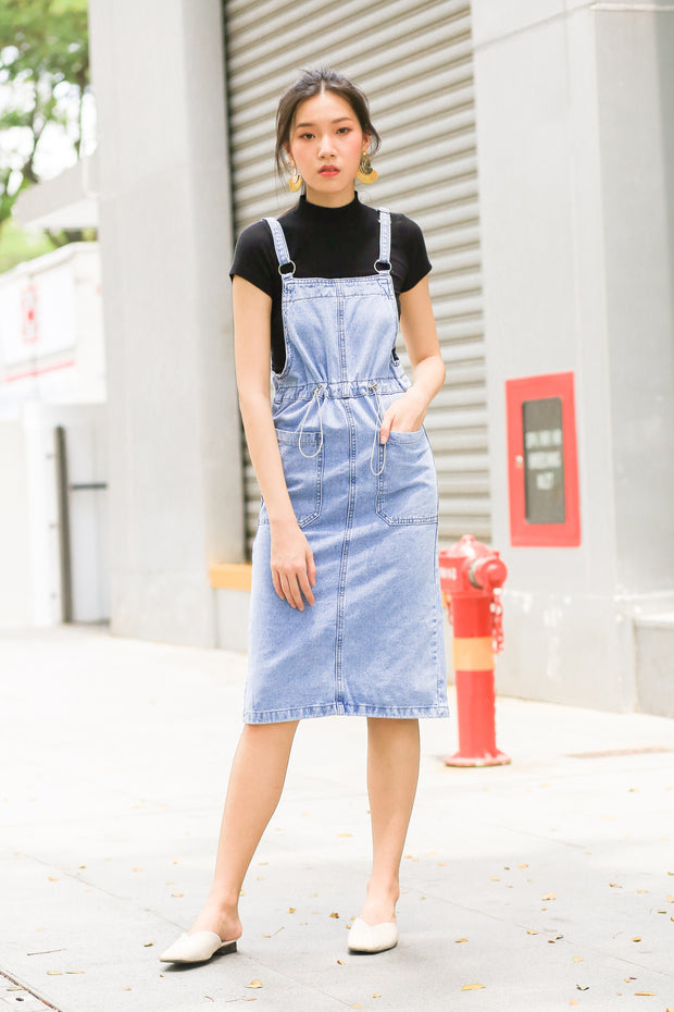 Coudrey Pinafore Denim Dress