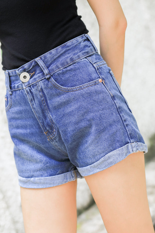 Allure Mom Jeans Shorts