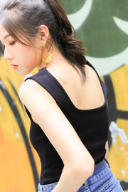 *Restocked* Lexy Square Knit Top – Black