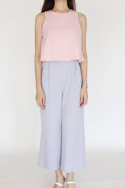 Kyra Colorblock Jumpsuit — Blush