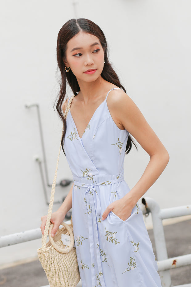 Jacy Sleeveless Slit Playsuit – Periwinkle