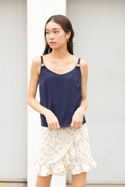 Dariel Detail Tank Top – Navy