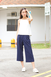 Alroy Cropped Culottes – Navy