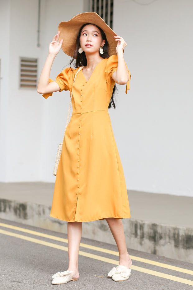 Arian Puff Sleeve Dress – Marigold
