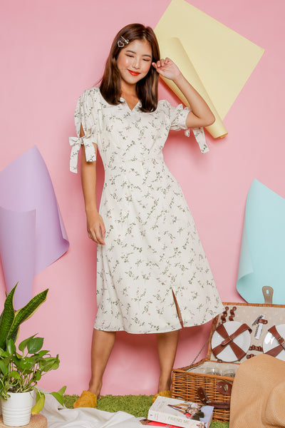 Feon Floral Dress – Off White