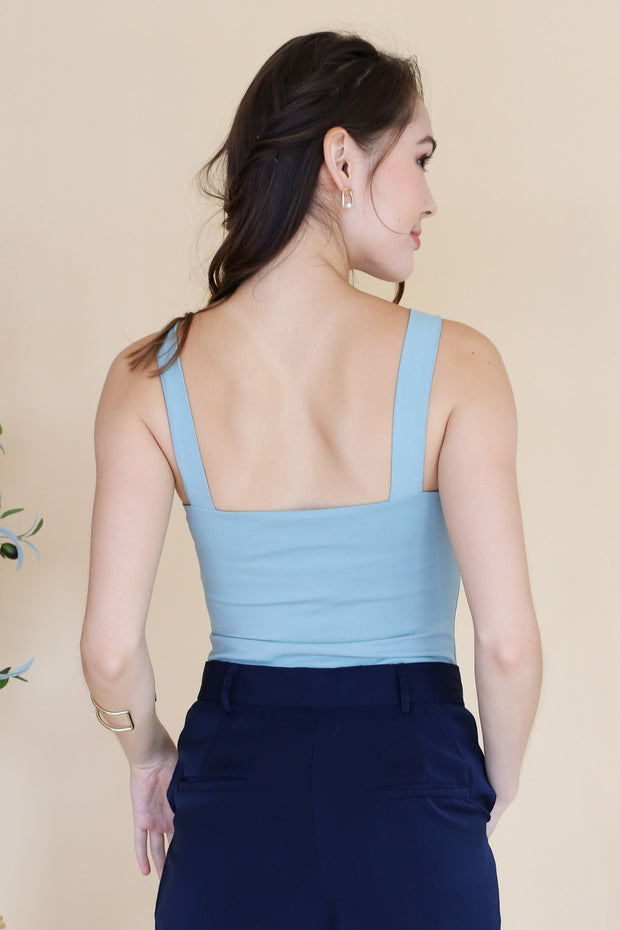 Talia Sleeveless Bodysuit – Seafoam