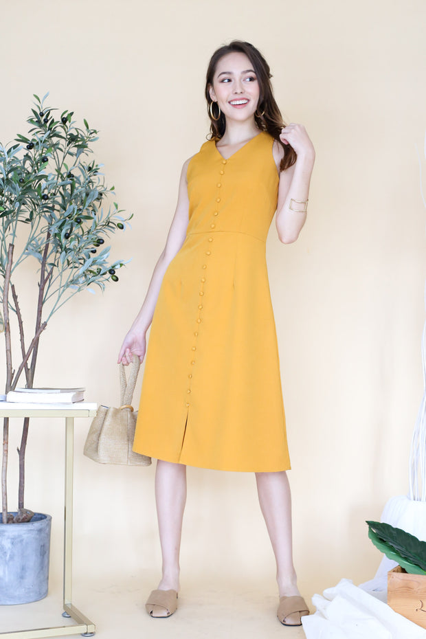 Corine Sleeveless Midi Dress – Marigold