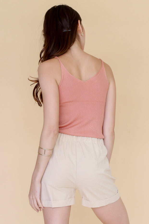 V Neck Knit Camisole