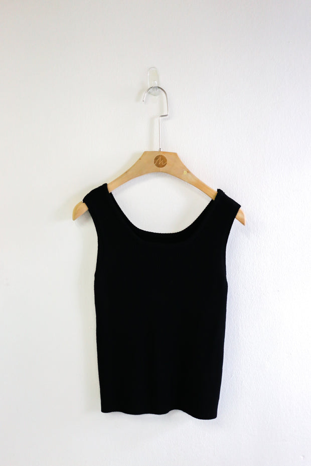 Kenzie Basic Ribbed Top – Black