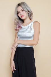 Ellen Knitted Striped Top – Multi Color