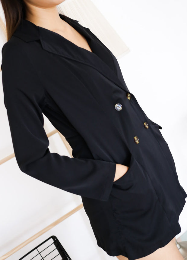 Ella Suit Romper – Black