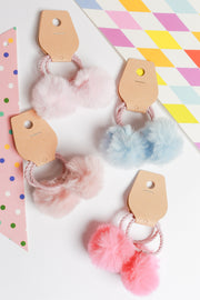 Ofelia Pompom Hair Tie – Multi Colour