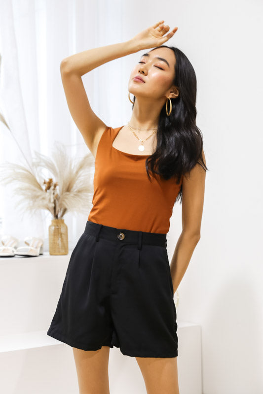 *Restocked*Luna Straight Cut Top – Tan