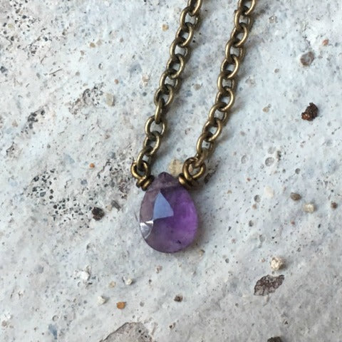 Amethyst Crown Chakra Necklace