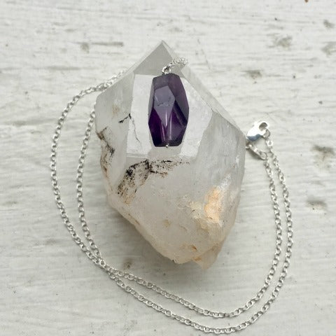 Birthstone February Amethyst Necklace