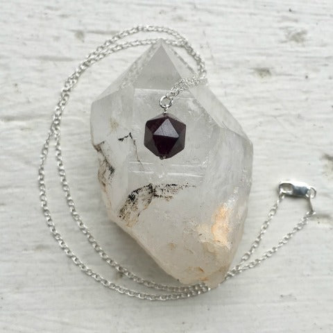 Birthstone January Garnet Necklace